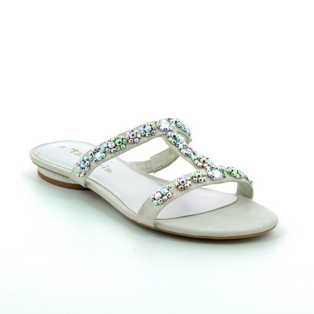 Tamaris Nigra 27191-941 Silver heeled shoes