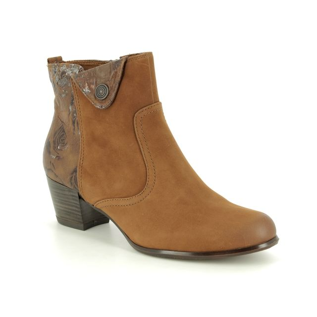 Tamaris Ocifleur 25337-21-305 Tan Leather ankle boots