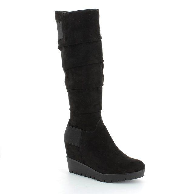 Tamaris Knee-high Boots - Black Suede - 25624/001 PIMELA