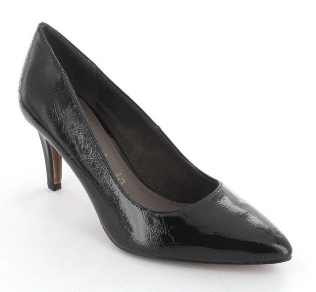 Tamaris Pointed 22447-018 Black patent high-heeled shoes