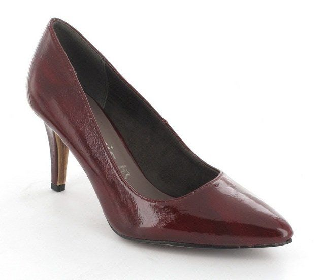 Tamaris Pointed 22447-551 Red patent high-heeled shoes