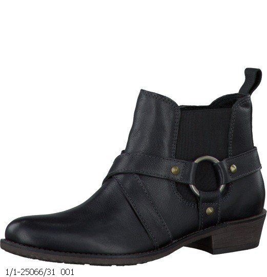 Tamaris Pollen 25066-001 Black ankle boots