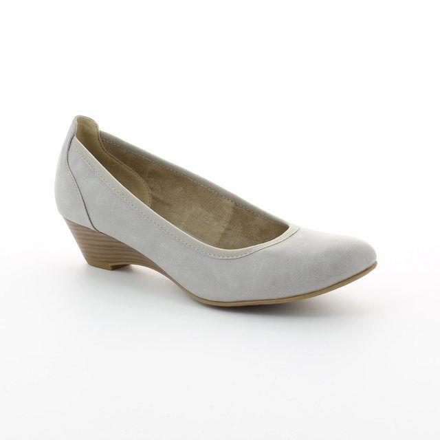 Tamaris Quiver 22304-204 Light Grey heeled shoes