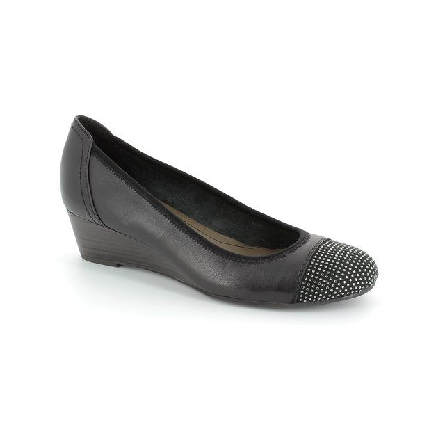 Tamaris Quiverdia 22308-001 Black heeled shoes