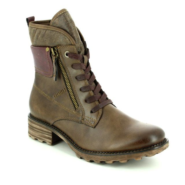 Tamaris Redbud 26248-312 Brown multi ankle boots