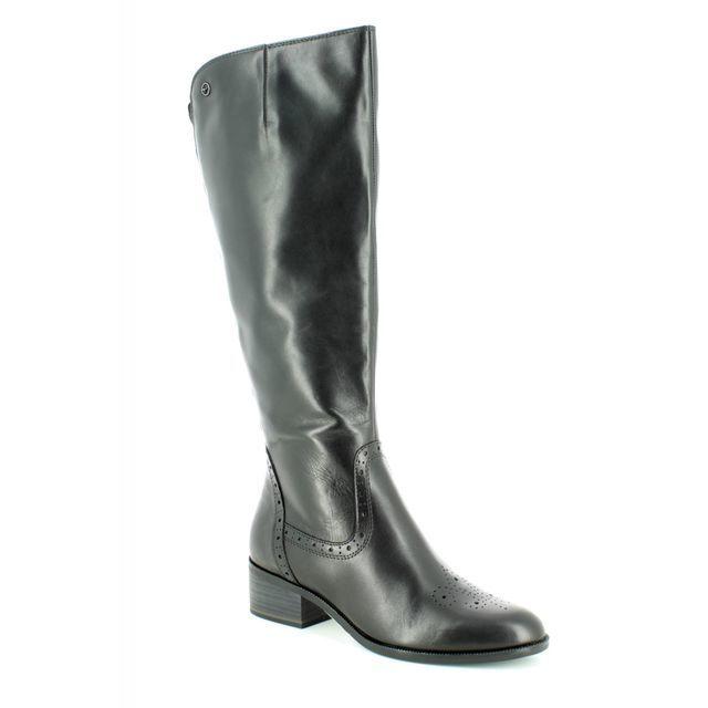 Tamaris Knee-high Boots - Black leather - 25541/21/001 ROSEMARY