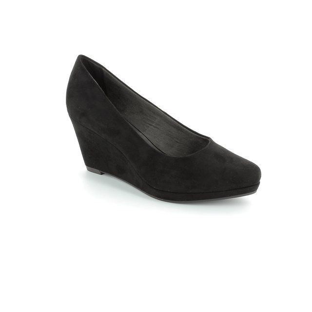 Tamaris Rossi 22434-001 Black suede high-heeled shoes