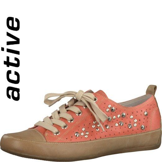 Tamaris Sagos 23627-065 Pink multi lacing shoes