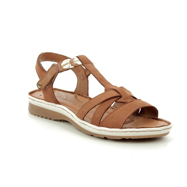 Tamaris Comfortable Sandals - Tan Leather  - 28603/22/392 SALKA