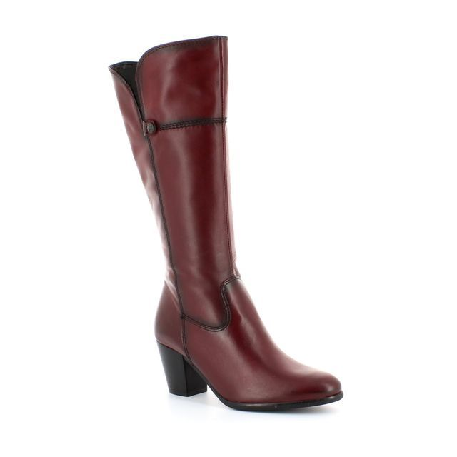 Tamaris Knee-high Boots - Dark Red - 25582/549 SALTA SLIM