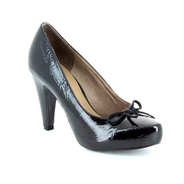 Tamaris Sambo 22418-007 Black patent heeled shoes