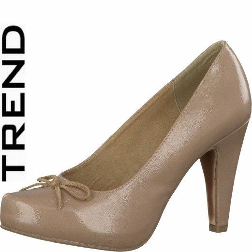 Tamaris Sambo 22418-251 Nude Patent heeled shoes