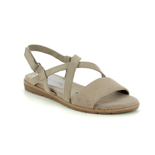 Tamaris Flat Sandals - Taupe - 28131/22/324 SIDCROSS