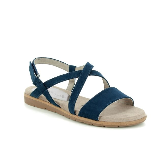 Tamaris Flat Sandals - Navy - 28131/22/805 SIDCROSS