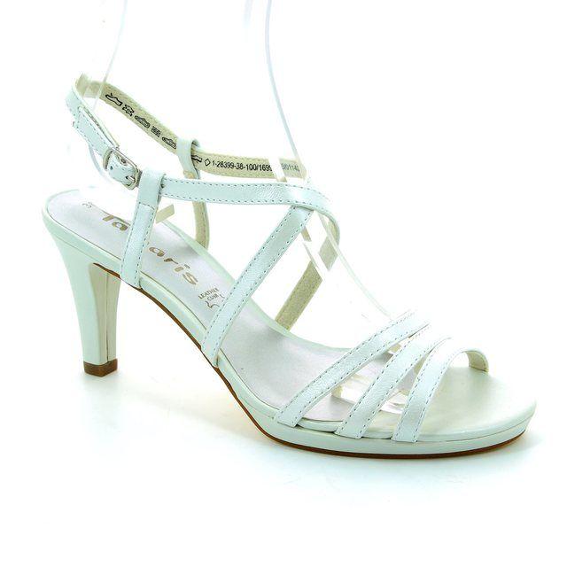 Tamaris Sindy 28399-100 White high-heeled shoes