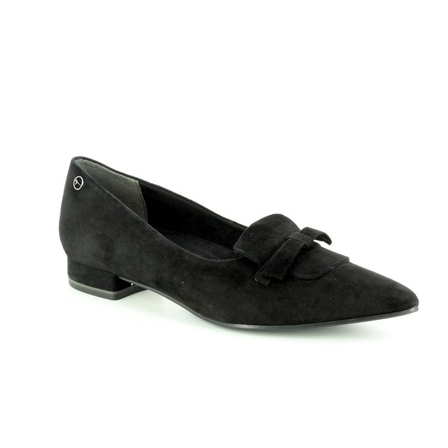 Tamaris Heeled Shoes - Black Suede - 24200/21/001 SOLACE