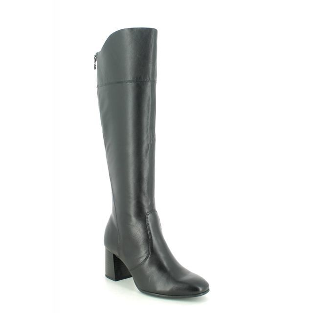 Tamaris Knee-high Boots - Black leather - 25515/25/001 SOLO