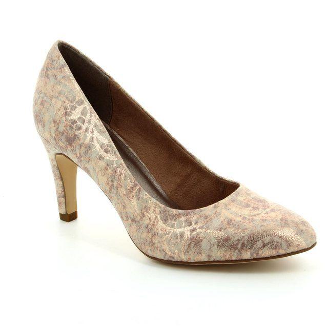 Tamaris Suria 22450-953 Gold high-heeled shoes