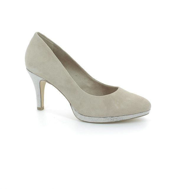 Tamaris High-heeled Shoes - Beige suede - 22405/324 SUSIE