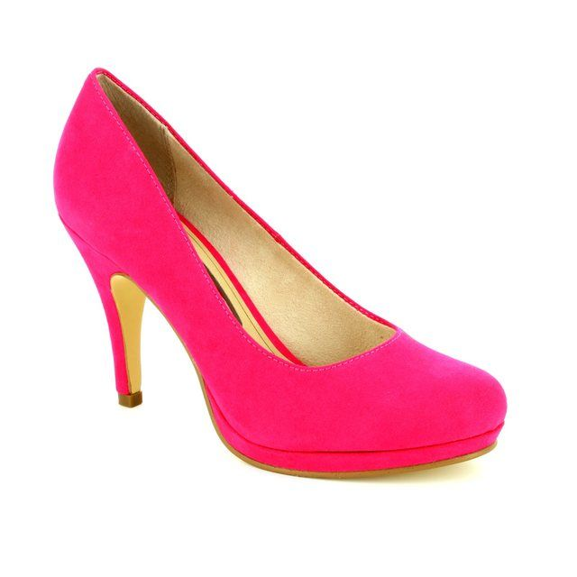 7314e35b577ee4 Tamaris Taggia 22407-513 Fuchsia high-heeled shoes