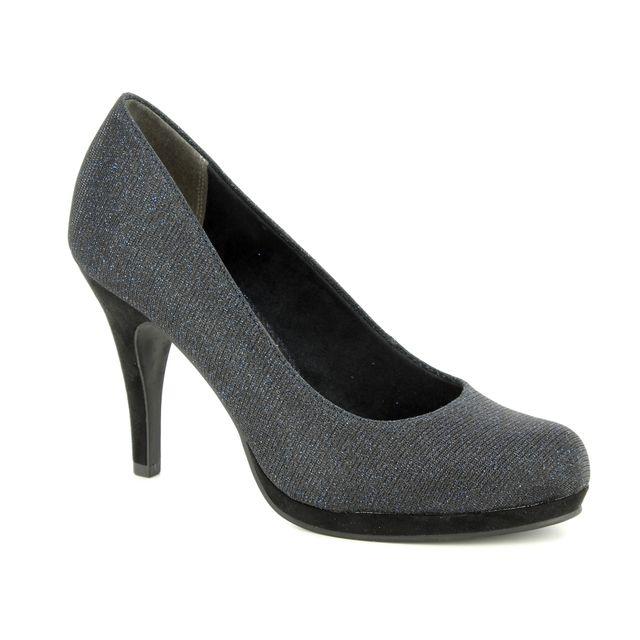 Tamaris High-heeled Shoes - Navy Glitz - 22407/21/864 TAGGIA 85