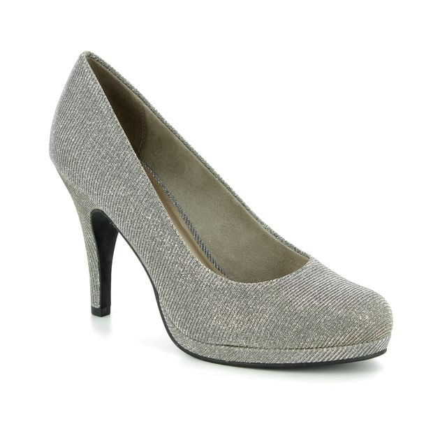 Tamaris High-heeled Shoes - Silver Glitz - 22407/21/970 TAGGIA 85