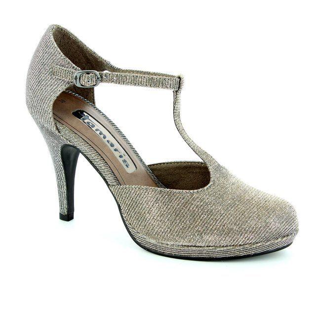 Tamaris Taggiti 24429-970 Gold high-heeled shoes