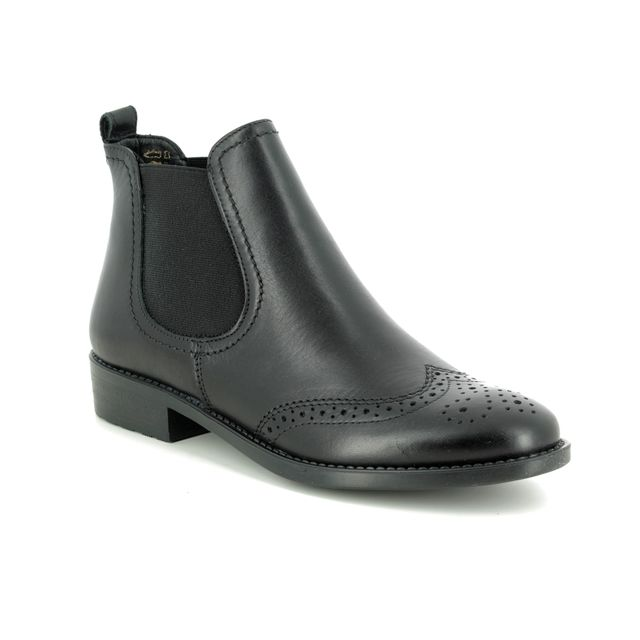 Tamaris Chelsea Boots - Black leather - 25493/23/001 TAINA   95