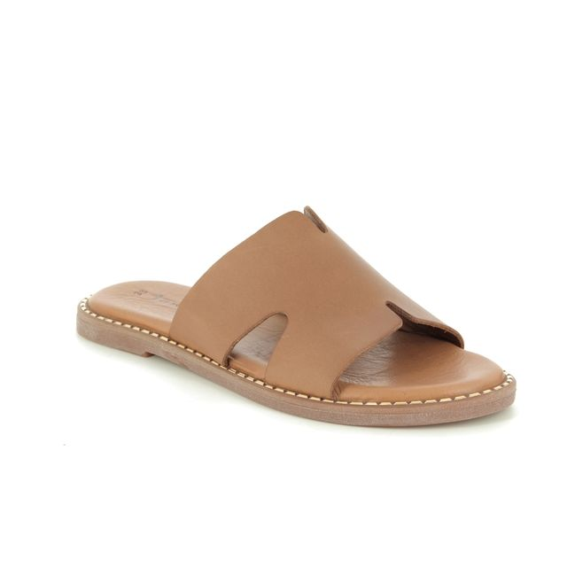 Tamaris Slide Sandals - Tan Leather - 27135/24/305 TOFFY