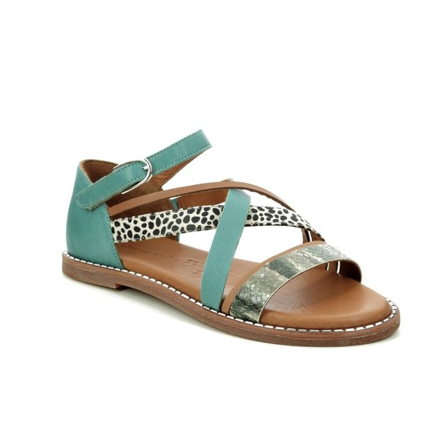 Tamaris Flat Sandals - Teal blue - 28162/24/753 TOFFYSTRAP
