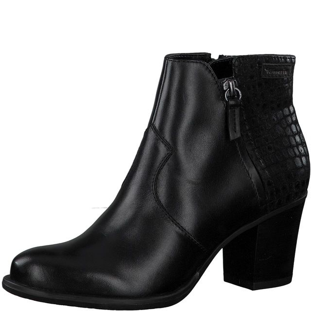 Tamaris Ankle Boots - Black leather - 25338/25/097 TORA