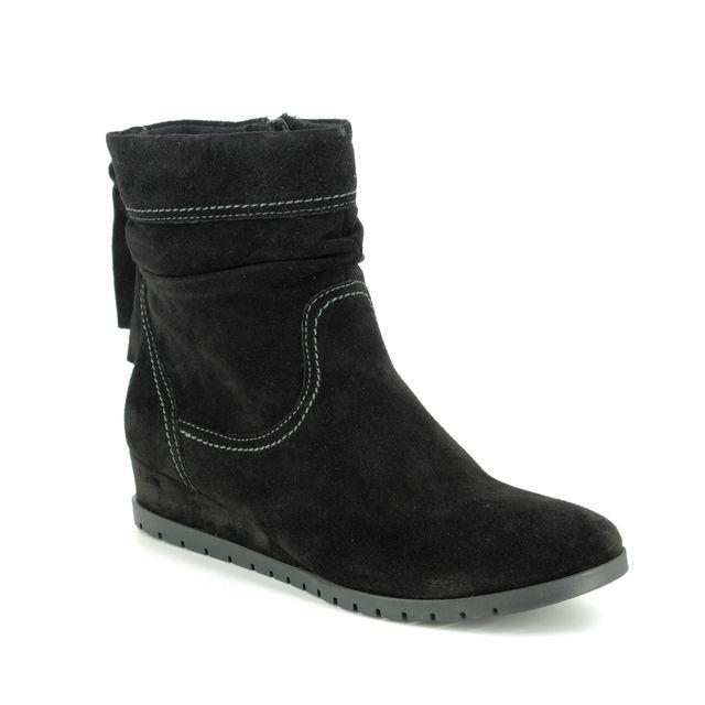 Tamaris Wedge Boots - Black Suede - 25046/23/001 VALENTINE