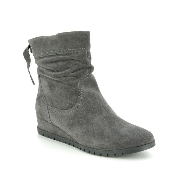 Tamaris Wedge Boots - Grey Suede - 25046/23/214 VALENTINE