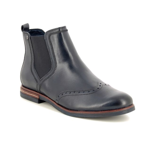Tamaris Chelsea Boots - Navy Leather - 25027/23/850 VANNI