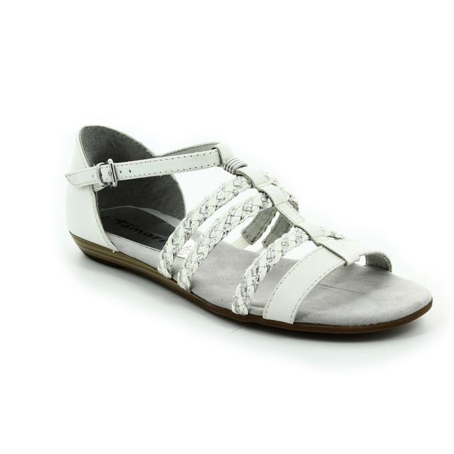 Tamaris Sandals - White multi - 28108/191 VERBENA
