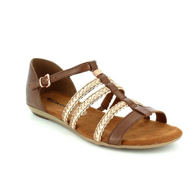 Tamaris Verbena 28108-363 Tan multi sandals