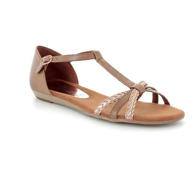 Tamaris Flat Sandals - Tan - 28137/20/385 VERBOSS
