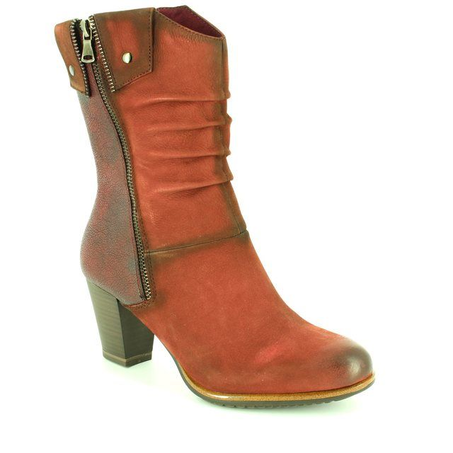Tamaris Fashion Ankle Boots - Dark Red - 25356/549 VISTA
