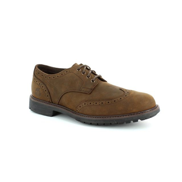 Timberland Stormtex Brogu A1499-42 Brown nubuck formal shoes