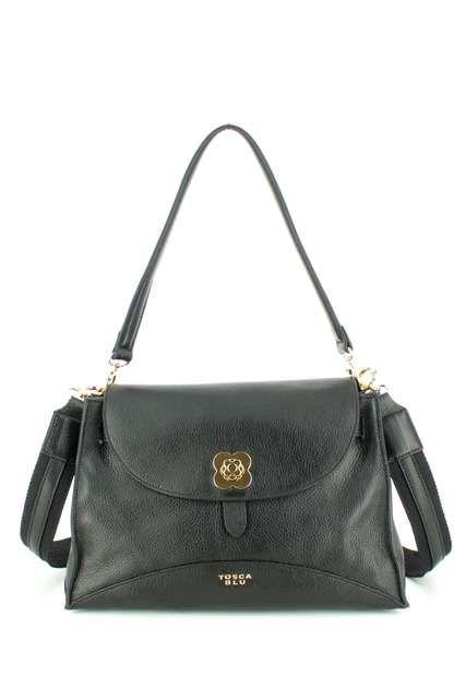 Tosca Blu Handbag - Black leather - TF182B142/33 GINERVA TOTE