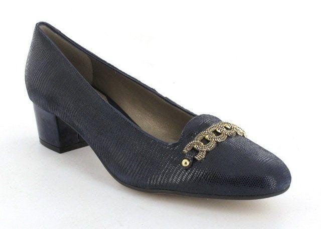 Van Dal Alexandra 2202-440D D Fit Navy suede heeled shoes