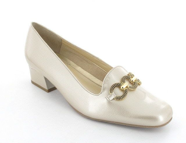 Van Dal Twilight 2026-810F F Fit Oyster Pearl Patent heeled shoes