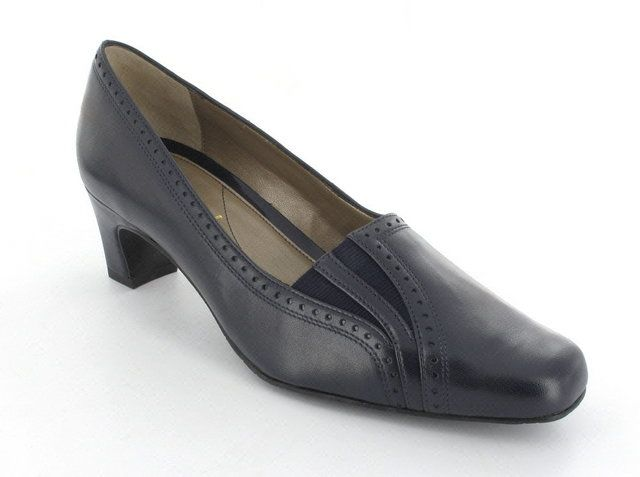 Van Dal Winona 1600-460F F Fit Navy heeled shoes
