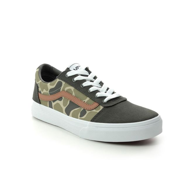 Vans Trainers - Camo Green - VN0A38J9W/LZ1 WARD YTH