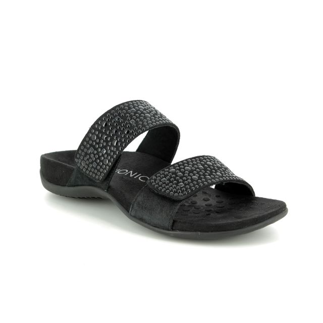 Vionic Slide Sandals - Black - 201904 REST SAMOA