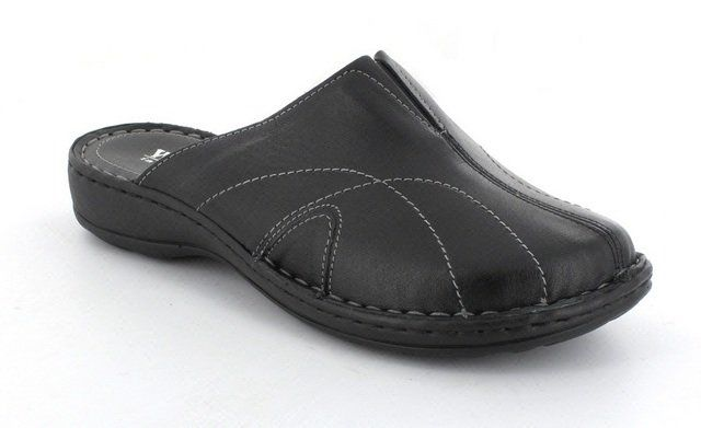 Walk in the City Beta 7325-3184 Black slipper mules