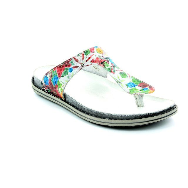 Walk in the City Birch 9126-32730 Floral print sandals