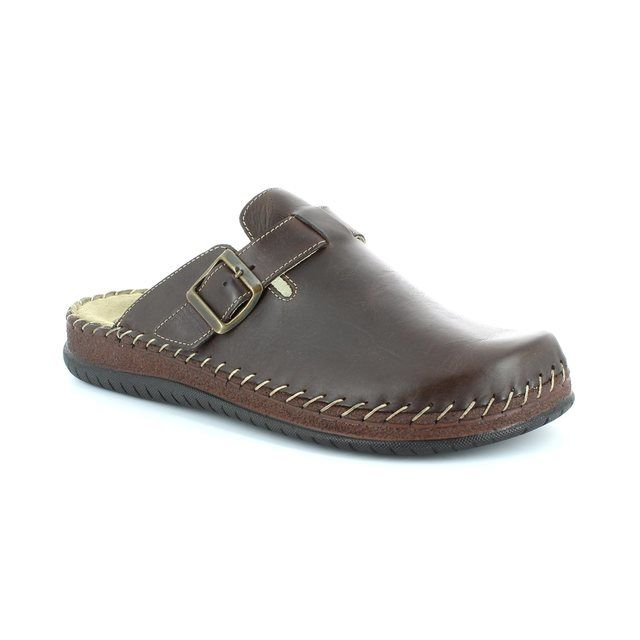 Walk in the City Conform 9289-19102 Brown waxy house shoe
