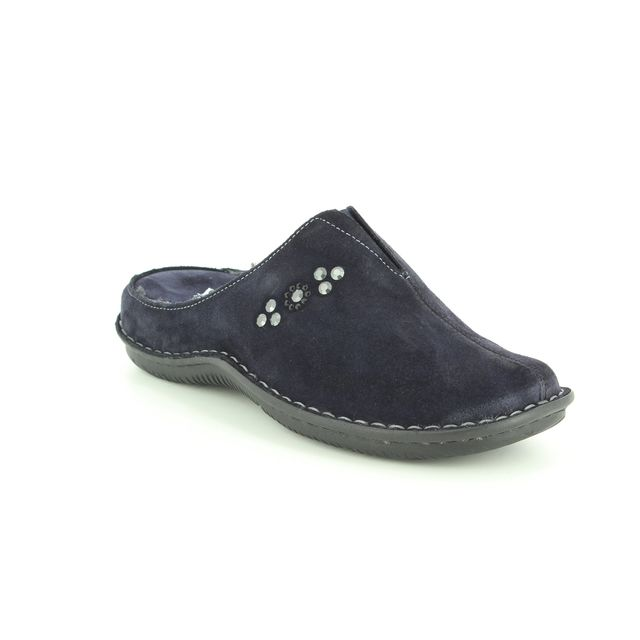 Walk in the City Slipper Mules - Navy Suede - 4988/34873 LAGODOTS