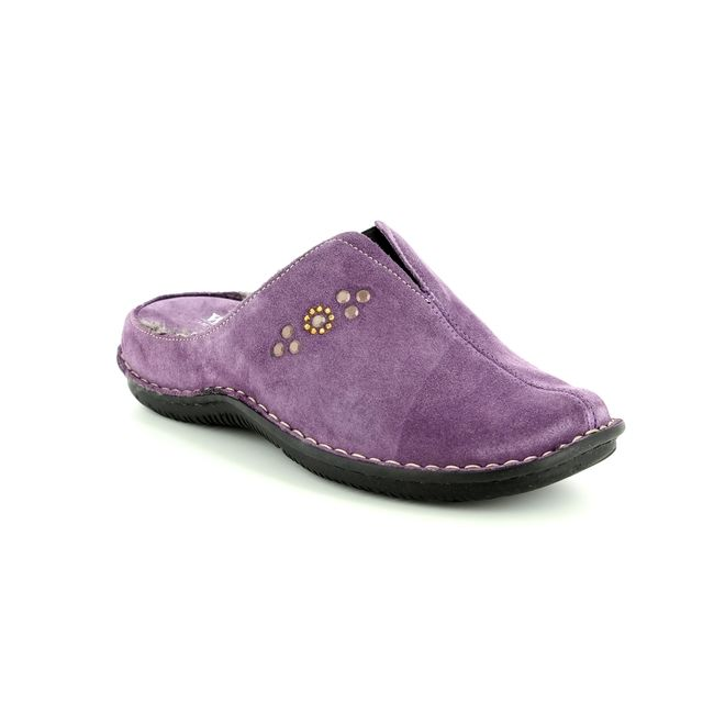 Walk in the City Slipper Mules - Purple suede - 4988/34873 LAGODOTS